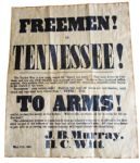 Freemen Of Tennessee Recruitment Poster 1861